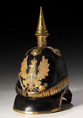 Prussian Model 1842 reserve infantry officer's spiked helmet