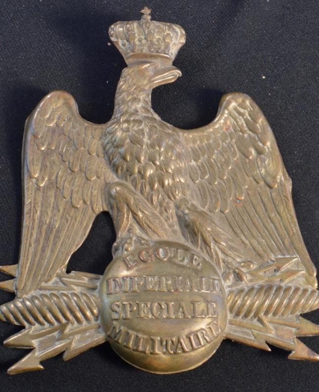 "French ""Saint-Cyr"" Officer Military School Shako plate"