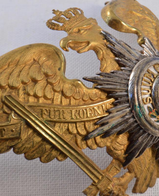 Prussian Garde Officers Eagle Frontplate - Fire Gilt-