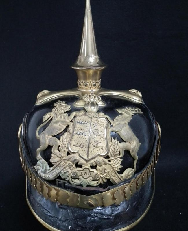 Württemberg Infantry Officer Pickelhaube with Case