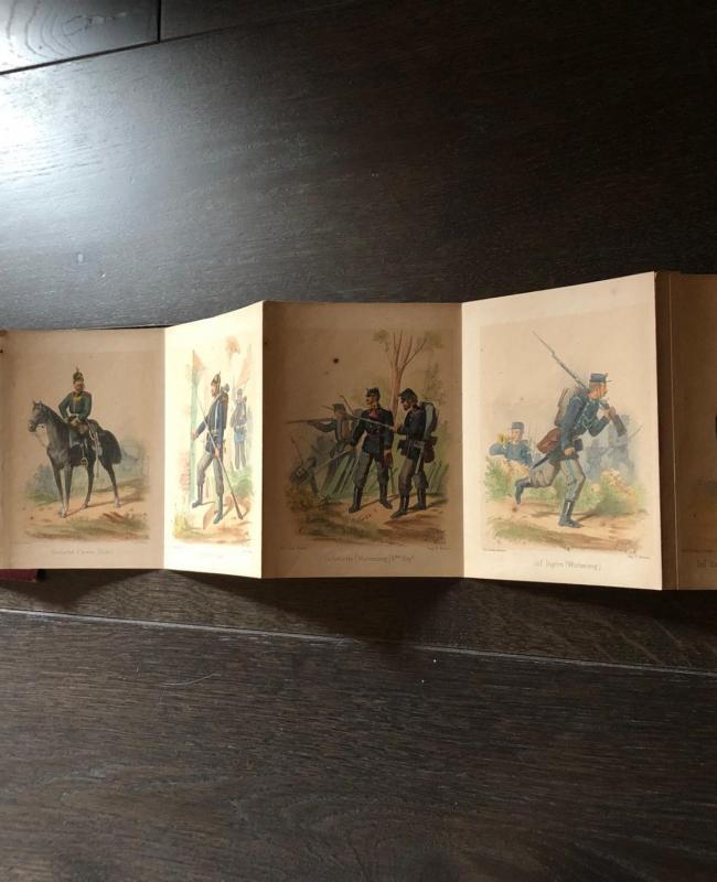 "Booklet ""Armée Allemande"" from the 1870's"