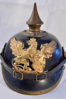 Baden Infantry Enlisted Pickelhaube - Excellent