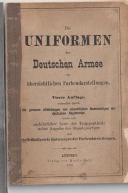 """Booklet """"Die Uniformen der Deutschen Armee"""""""