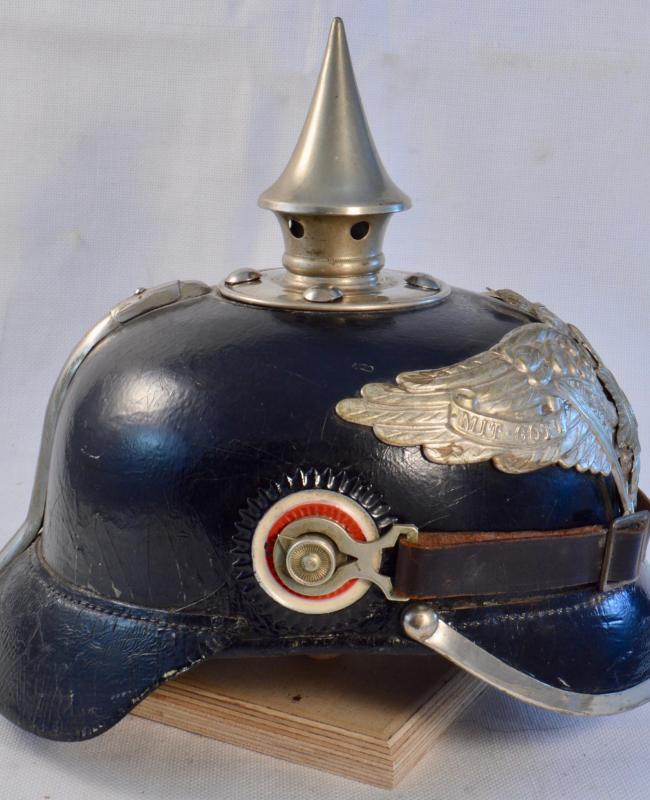Prussian Silver Garde Fusilier, Grenadier or Pioneer Pickelhaube
