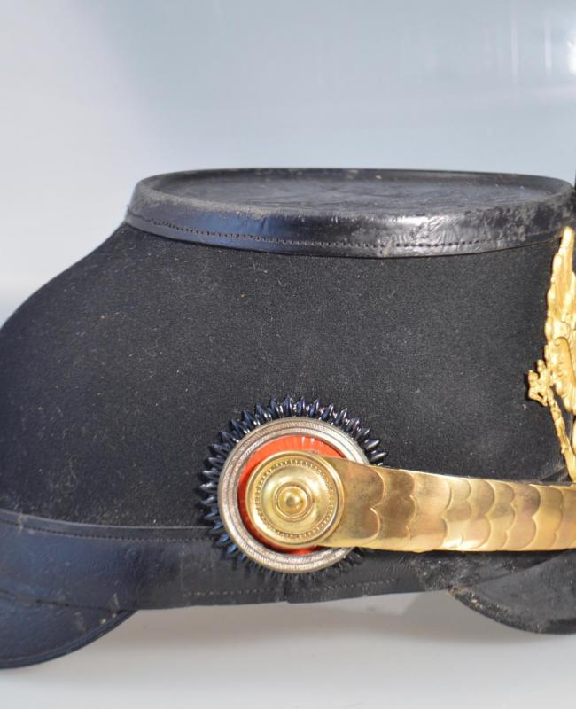 Prussian Jaeger Officer Shako Ensemble to Parade with Original Case